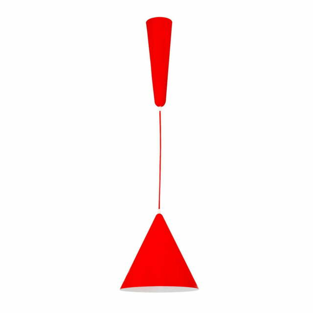 Lampada A Sospensione 1 Luce In Metallo Laursen Newz 1 Rosso