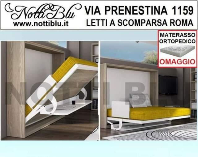 Letti a Scomparsa _ Letto 2pF Materasso L=140 cm Omaggio