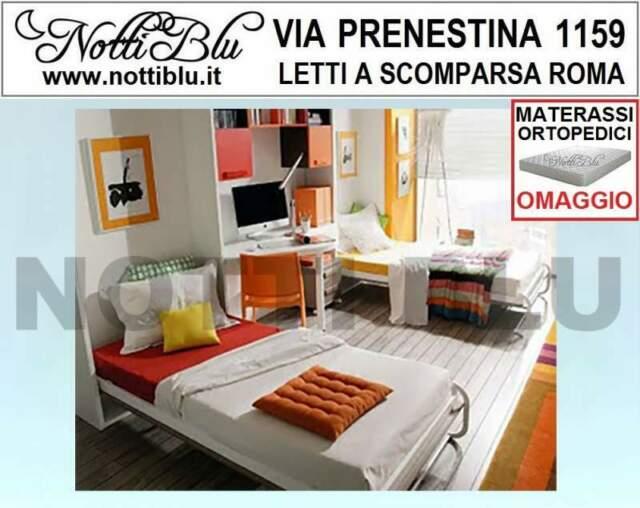 Letto a Scomparsa _ 2 Letti Singoli SE446 Materassi Omaggio