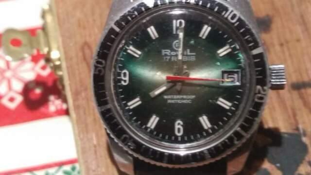 Orologio vintage Rowil diver