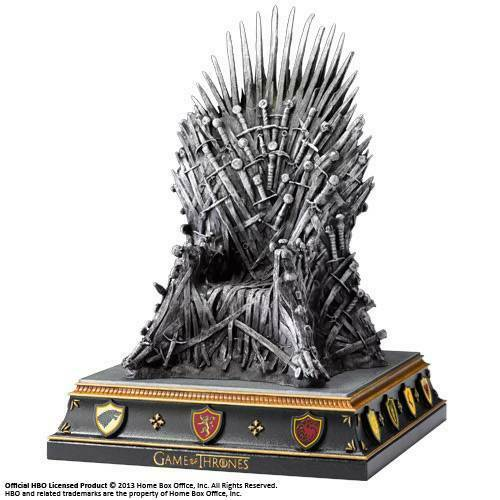 Gw jm game of thrones iron throne bookend 19 cm -
