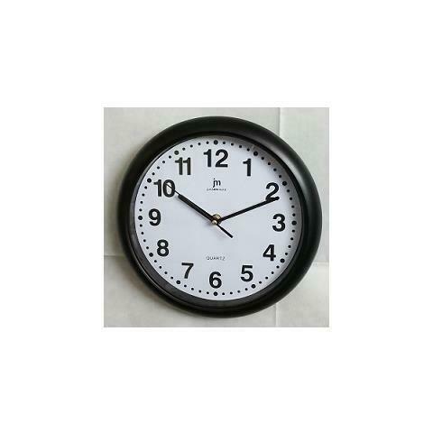 n nero orologio parete abs