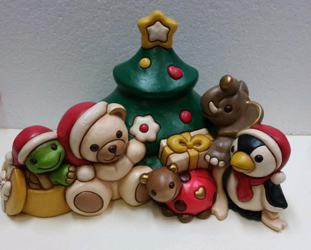 Amici del Natale in ceramica Thun nuovo con scatola mai