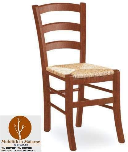 Sedie in legno pub con sedile paglia cod 852/P Nuove