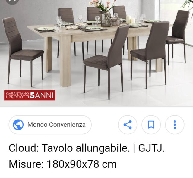 Tavolo Rotondo Allungabile Mondo Convenienza.Tavolo Convenienza Monacoarreda Posot Class