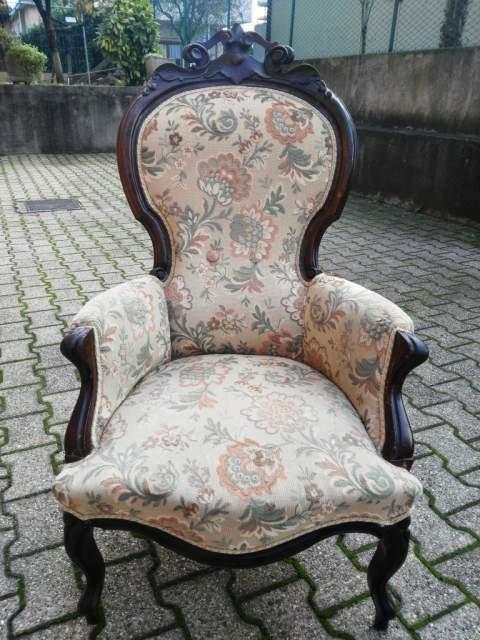 Antica poltrona Luigi Filippo Ottocento