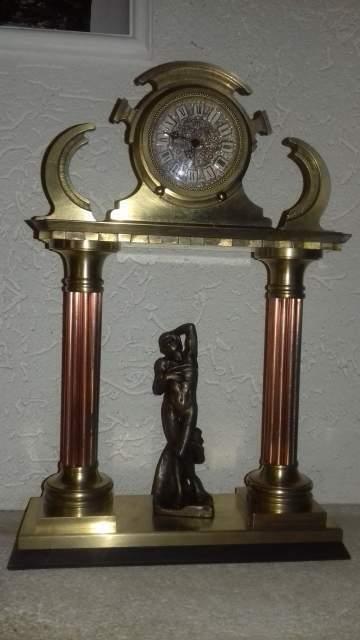 Antico orologio sveglia art deco' meccanico