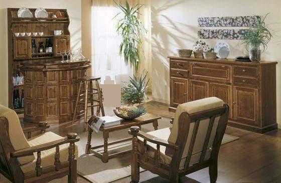Arredi Rustici in Legno: Salotto Completo 066 Nuovo AFFARE
