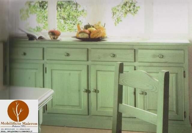 Credenza 4 Ante in Stile Rustico Color Verde. Prezzo
