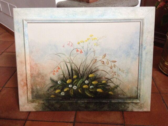 Dipinto a olio del Maestro Reimann 50x70 Fiori di Campo