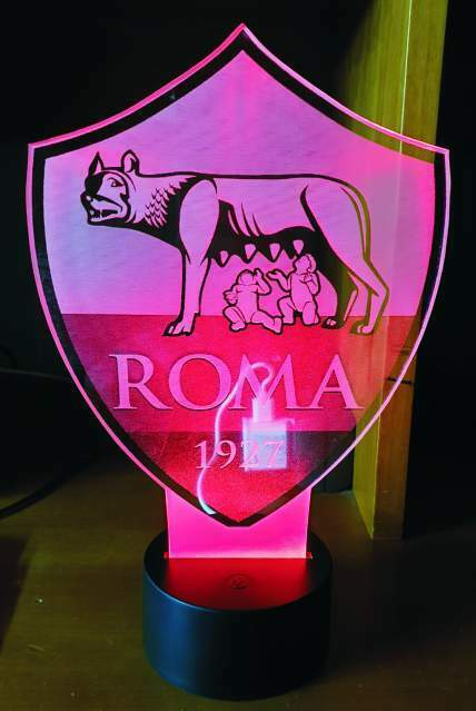 Lampada 3D Led RGB 7 colori ROMA con telecomando senza fili