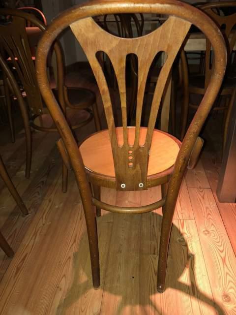 Sedie per brasserie bistrot pub birreria in faggio