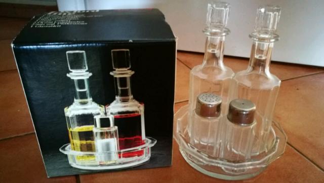 Set olio aceto sale e pepe anni 70