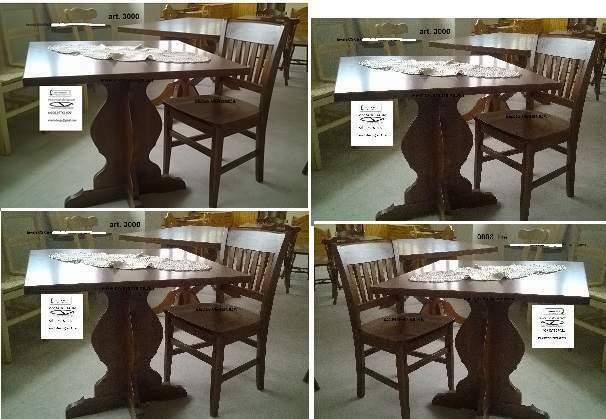 Tavoli e sedie in legno massello