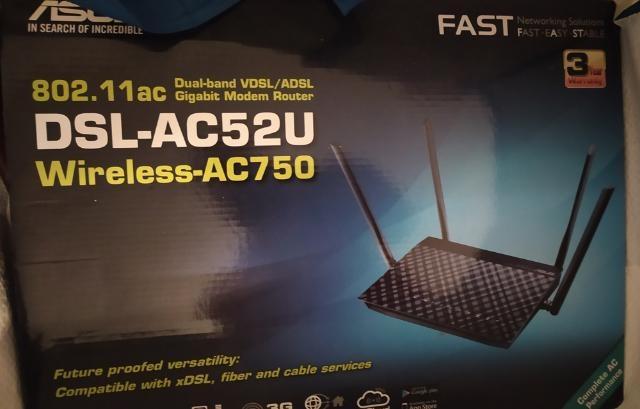 ASUS DSL AC52U MODEM ROUTER