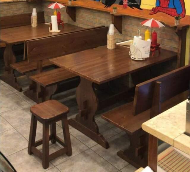 Set panche e tavoli per'arredo pub / birrerie.