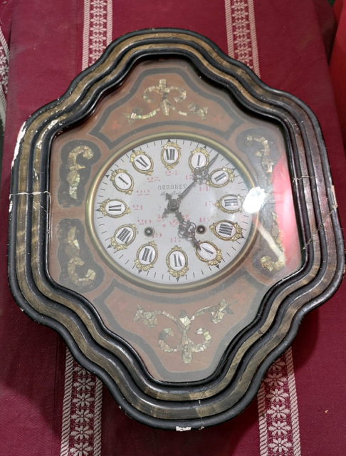 Antico Orologio Occhio di bue con madreperla '800