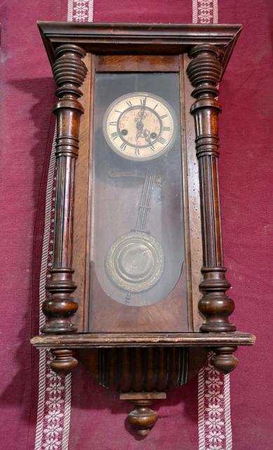 Antico Orologio a pendolo tedesco fine '800 cm 72x37x18