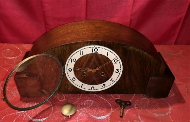 Antico orologio a pendolo Westminster a 3 martelli del