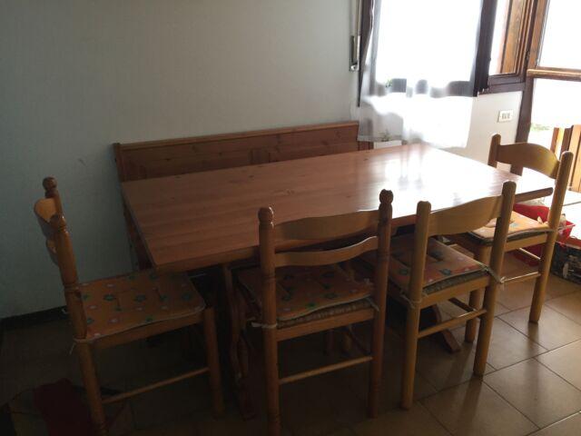 Tavolo Da Cucina Con Panca Angolare.Taverna Tavolo Con Giro Panca E 4 Sedie Rovere Posot Class