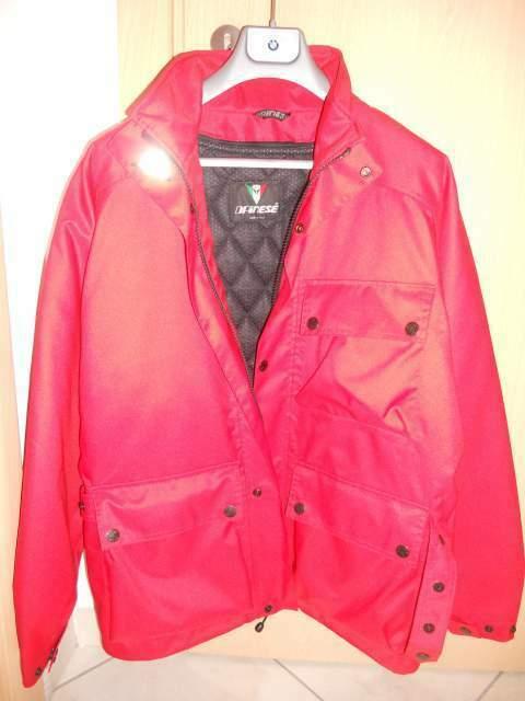 Giubbino/giacca dainese rosso taglia 48 nuovo originale