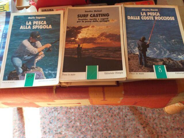 Libri pesca surf casting, dalle rocce, spigola