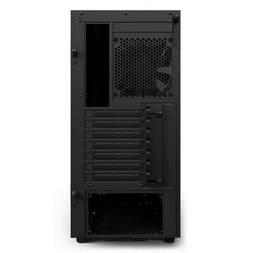 Nzxt gaming case h500 mid tower vetro temperato nero/blue