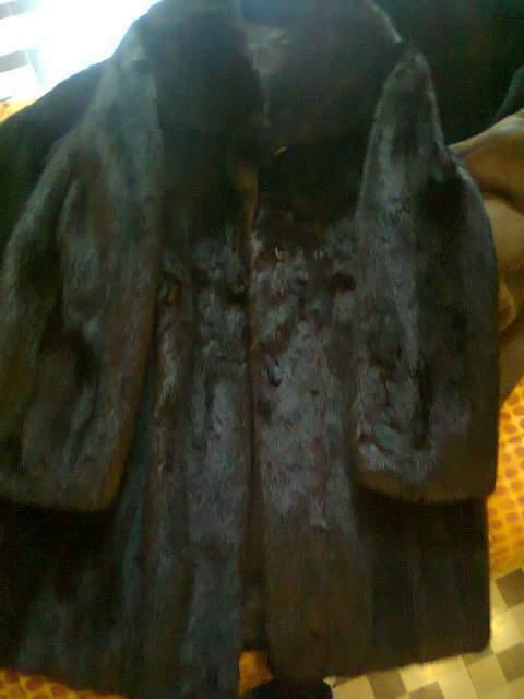 Pelliccia visone maschio originale vintage + volpe vera
