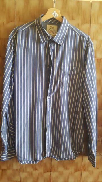 Camicia a righe blu e bianche taglia XL