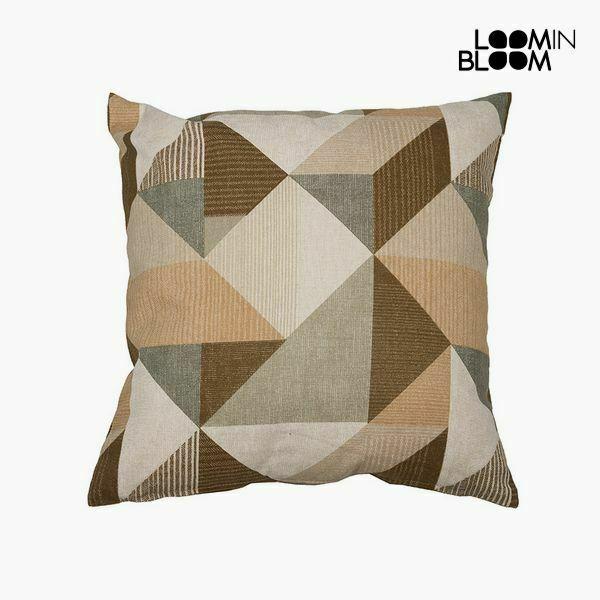 Cuscino cotone e poliestere beige (45 x 45 x 10 cm) by loom