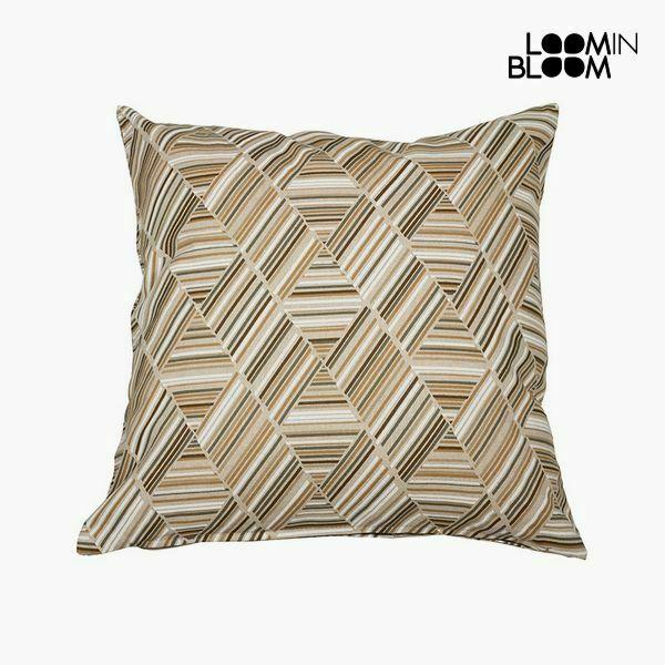 Cuscino cotone e poliestere beige (60 x 60 x 10 cm) by loom