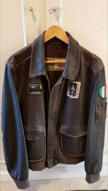 Giubbotto Pelle Pilot Aeronautica Militare