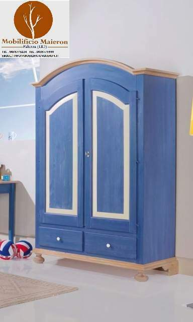 Camerette in Legno B&B: Armadio Blu Cod 037 AFFARE