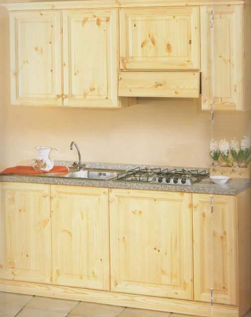Cucina in Legno Massello Pino cod 023 Color Naturale