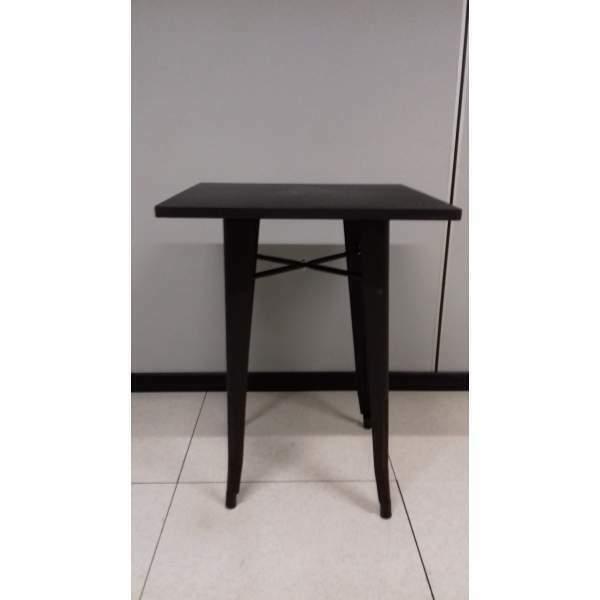 Metal - Tavolo stile industriale 70x70 colore nero
