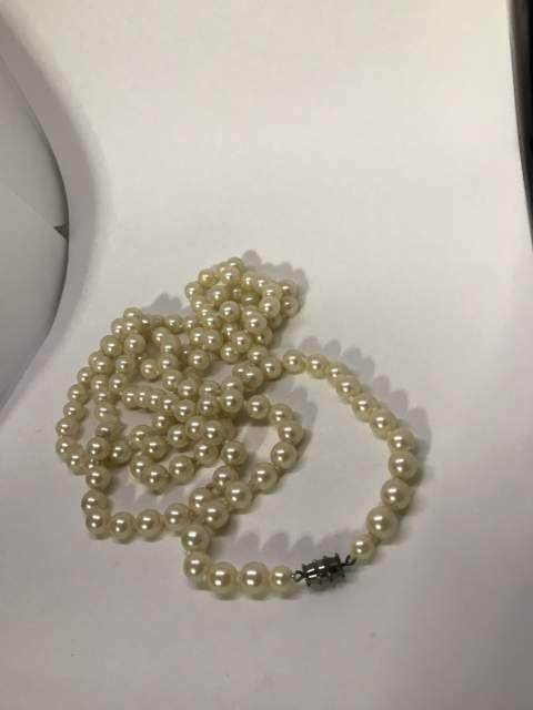 3 collane perle bijoux vintage