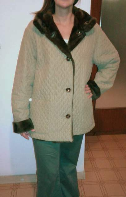 Giacca da donna reversibile pelliccia sintetica