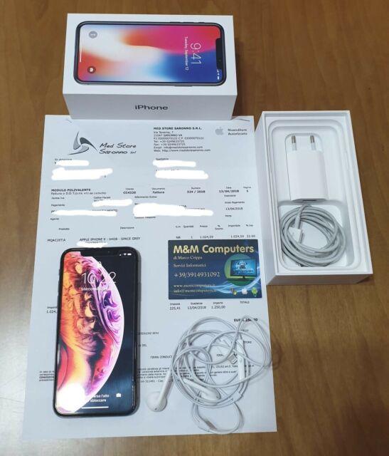 IPhone X 64Gb Space Grey in garanzia