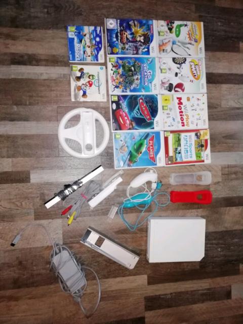 WII console con giochi