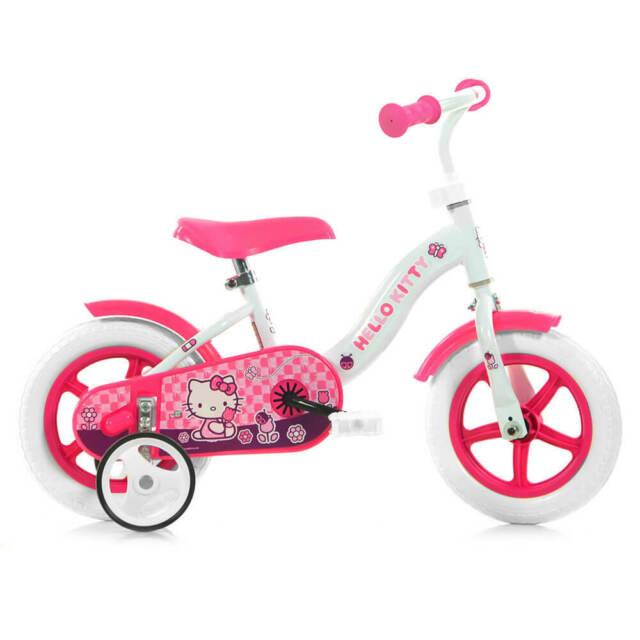"""Bicicletta Hello Kitty Per Bambina 10"""" Senza Freno 108l-hk"""