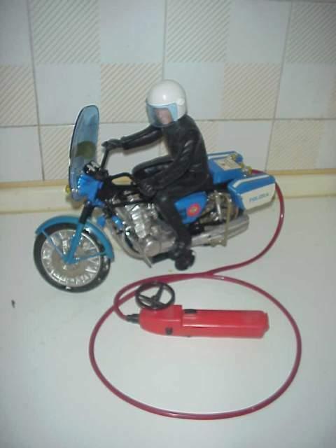 Motocicletta reel filocomandata vintage gioco giocattolo