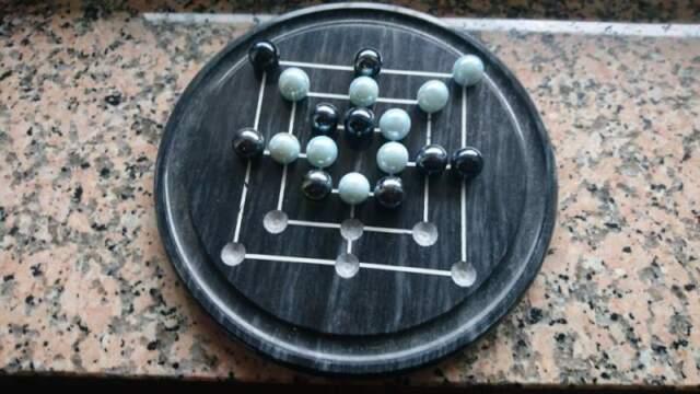 Mulino gioco da tavolo in marmo