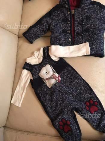 Completo Prenatal 3 pezzi con cappottino 6-9 mesi 68