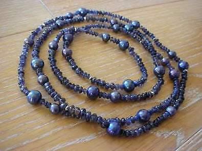 Collana perle di fiume e corderite Valero Pearls NUOVA
