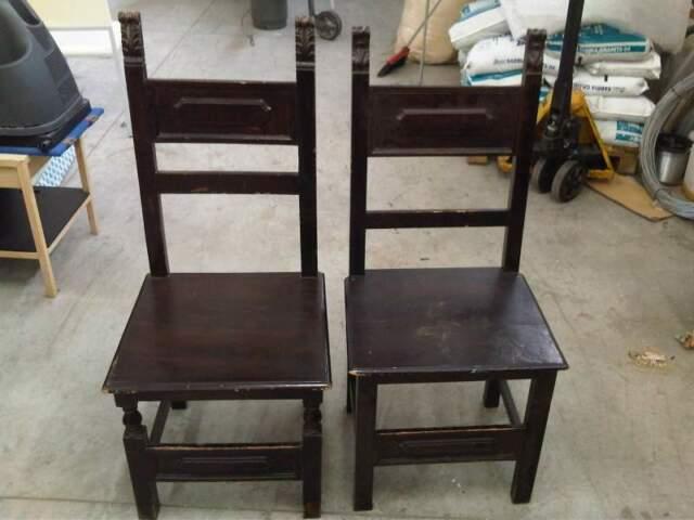 Coppia sedie in legno