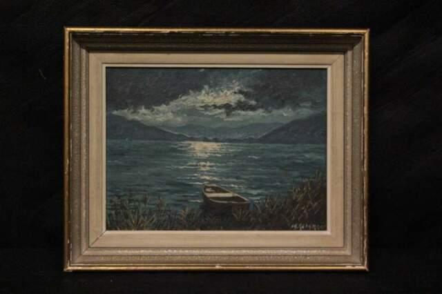 Dipinto a olio su tavola del XX secolo firmato Reinhard