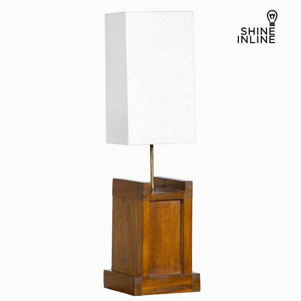 Lampada da tavolo legno di mindi (20 x 20 x 40 cm) by shine