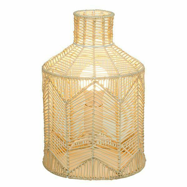 Lampada da tavolo rattan naturale (21 x 21 x 31 cm)