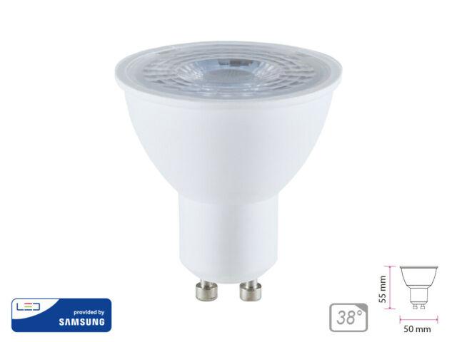 Lux guc lampada led gu10 8w 220v 38 gradi caldo k