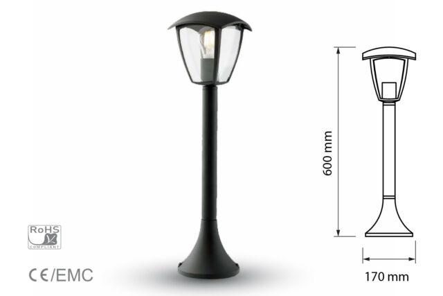 Lux hs lampada da terra per giardino esterno ip44